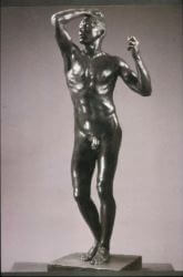 Statue of nude man