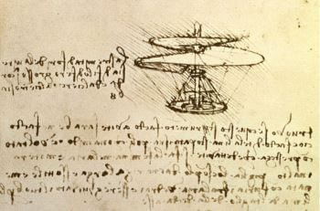 Leonardo sketch of helicopter