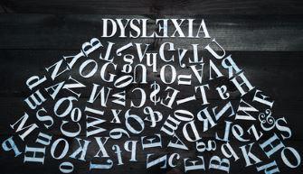 Dyslexia atop jumbled letters