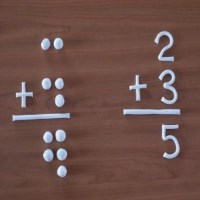 clay model depicting arithmetic problem